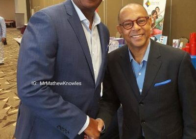 Dr. Jeffrey Gardere with Mathew Knowles